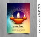 abstarct happy diwali background | Shutterstock .eps vector #494302924