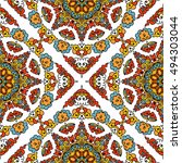 seamless pattern ethnic style.... | Shutterstock . vector #494303044
