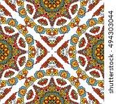 seamless pattern ethnic style.... | Shutterstock . vector #494303044