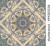 seamless pattern ethnic style.... | Shutterstock . vector #494303236