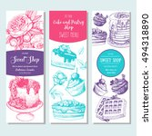 sweet shop banner collection.... | Shutterstock .eps vector #494318890