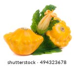Two Yellow Pattypan Squash Wit...