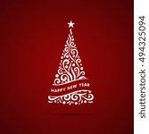 christmas tree. vector...   Shutterstock .eps vector #494325094