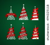 christmas set   labels  emblems ... | Shutterstock .eps vector #494325118