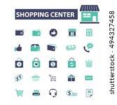 shopping center icons | Shutterstock .eps vector #494327458
