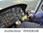 helicopter cockpit | Shutterstock . vector #494328148