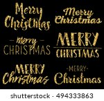 merry christmas   six unique... | Shutterstock .eps vector #494333863