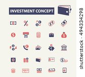 investment concept icons | Shutterstock .eps vector #494334298