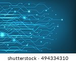 abstract technology circuit... | Shutterstock .eps vector #494334310