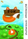 cartoon vector fox illustration ...
