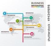 timeline infographics design...   Shutterstock .eps vector #494349898