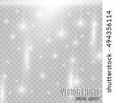vector rain isolated on... | Shutterstock .eps vector #494356114