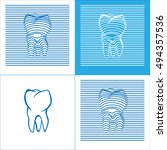 tooth poster  stomatology 3d...   Shutterstock .eps vector #494357536