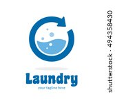 Laundry Wash Clean Logo Icon...