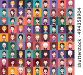 large set of different male and ... | Shutterstock .eps vector #494358904