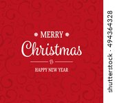 ornamental christmas card with...   Shutterstock .eps vector #494364328