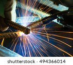 manufacture of precision parts... | Shutterstock . vector #494366014