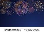 firework bursting sparkle... | Shutterstock .eps vector #494379928