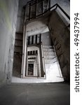 a staircase at an abandoned... | Shutterstock . vector #49437994