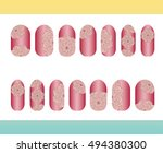 nail stickers  templates ... | Shutterstock .eps vector #494380300