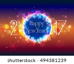 happy new year vector colorful... | Shutterstock .eps vector #494381239