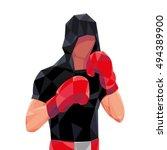 boxer vector resistant gloves... | Shutterstock .eps vector #494389900