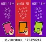 mobile tablet template for...   Shutterstock .eps vector #494390068