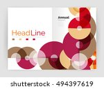 circle annual report templates  ... | Shutterstock .eps vector #494397619