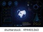 vector hud ui interface cyber... | Shutterstock .eps vector #494401363