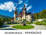 peles castle sinaia in autumn... | Shutterstock . vector #494406343