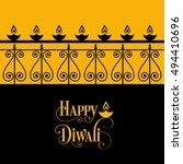 illustration of diwali for the...   Shutterstock .eps vector #494410696