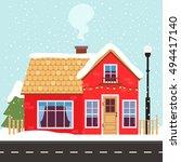 vector illustration of cute... | Shutterstock .eps vector #494417140