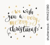 we wish you a very merry...   Shutterstock .eps vector #494421580