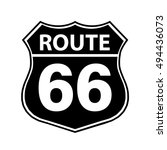 route 66 sign black | Shutterstock .eps vector #494436073