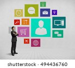 businessman and color... | Shutterstock . vector #494436760