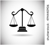 balance scale web icon flat...   Shutterstock .eps vector #494440906
