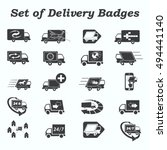 delivery sign icons   vector... | Shutterstock .eps vector #494441140