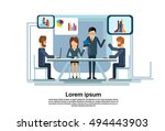 business people group... | Shutterstock .eps vector #494443903