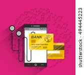 mobile music commerce online...   Shutterstock .eps vector #494445223