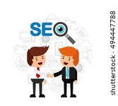 search engine optimization flat ... | Shutterstock .eps vector #494447788