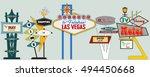 classic american signboards set ... | Shutterstock .eps vector #494450668