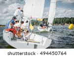 moscow   may 28   team athletes ... | Shutterstock . vector #494450764