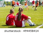 children soccer players playing ... | Shutterstock . vector #494458414