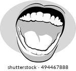 open mouth | Shutterstock .eps vector #494467888