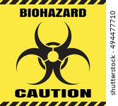 vector poster of biohazard... | Shutterstock .eps vector #494477710