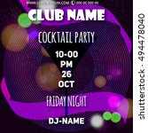 cocktail party party flyer.... | Shutterstock .eps vector #494478040