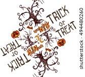 halloween trick or tread... | Shutterstock .eps vector #494480260