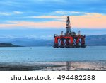 semi submersible oil rig at... | Shutterstock . vector #494482288