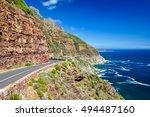 chapman's peak drive near cape... | Shutterstock . vector #494487160