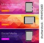 web banners or headers vector... | Shutterstock .eps vector #494492680
